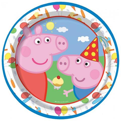COMO GIOCHI Peppa Pig - Blu - 8 Piatti 20 Cm