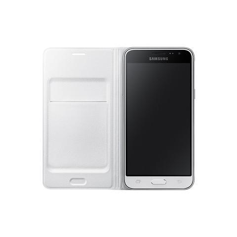 SAMSUNG Flip Wallet bianco per Galaxy J3 (2016)