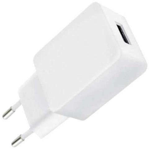 FONTASTIC IPW-USB-24ECWH - Caricatore USB 2,4A Compatto Spina Europea 2 pin Bianco