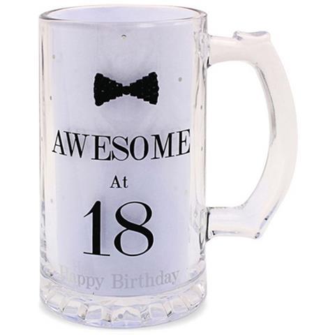 Lesser Pavey Boccale Da Birra A Pois Per Compleanno (scritte In Inglese) (taglia Unica) (awesome At 18)