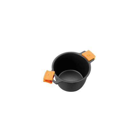 Pentola con Coperchio Rivestimento Antiaderente - Diametro 24 cm - Linea Efficient Orange