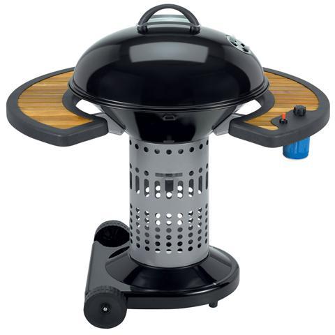 Barbecue a Carbone Large Nero / Legno