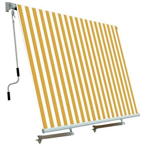 Tenda Da Sole Per Balcone Con Sistema A Caduta Bianco / Giallo 250x250 Cm