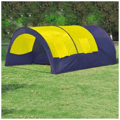 Tenda Da Campeggio In Poliestere Per 6 Persone Blu-giallo