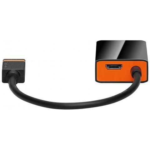 WENTRONIC 61750, USB 2.0 Micro jack (Type B) , HDMI Standard jack (Type A) , Nero, Maschio / femmina, Sacchetto di politene