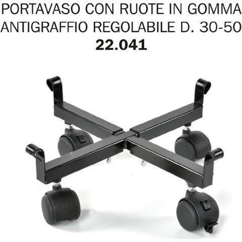 Porta Vaso Ruote In Gomma Antigraffio Regol D. 30-50