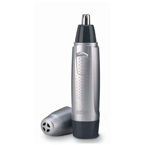 BRAUN EN10 Exact Series Rifinitore di precisione Wet&Dry Rimozione Peli Orecchie / Naso a Batteria Argento