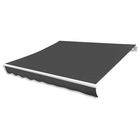 Tendone Parasole In Tela Antracite 350x250 Cm