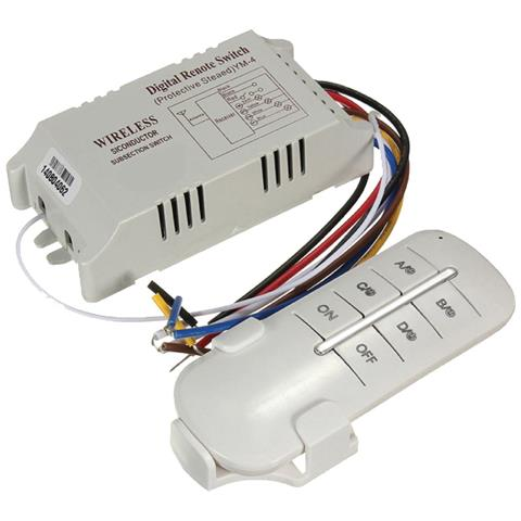 Takestop Telecomando Controllo 3 Canali Sistema Switch Luci Interruttore Wifi Wireless 30 60 Metri 1000w