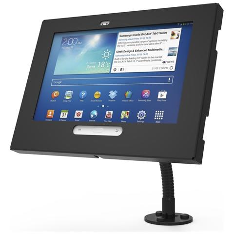 COMPULOCKS Galaxy Tab3 / Tab4 10.1 Enclosure Flex Arm Wall Mount, Tablet / UMPC, Nero, Alluminio