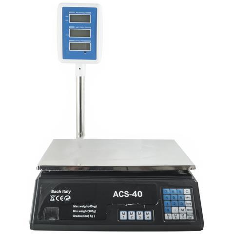 Bilancia Digitale Elettronica 40 Kg Display Lcd Elettronico Fronte Retro Pesa