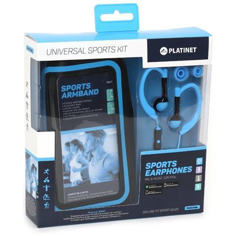 "PLATINET PM1070BL, 3.5 mm (1/8"") , Intraurale, 20 - 20000 Hz, Blu, Stereofonico, Aggancio"