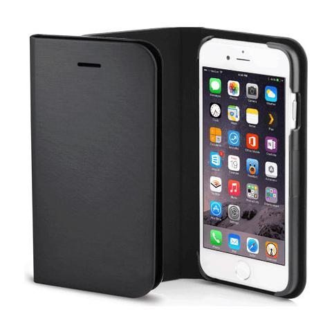 FONEX Shine Book Custodia a Libro per Iphone 6 Plus / 6S Plus Colore Nero