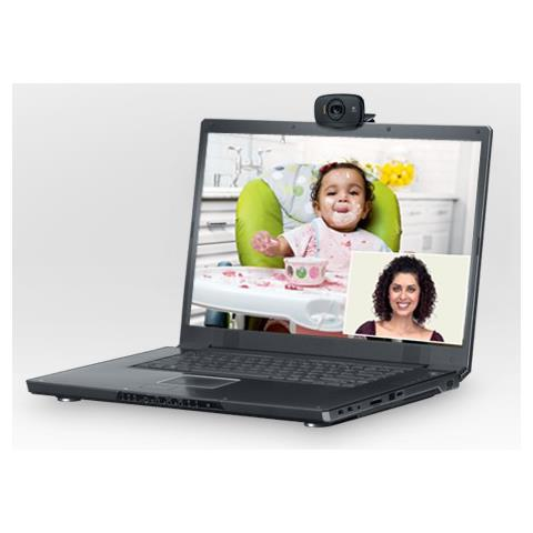 C525, 1280 x 720 Pixel, 720p, 1280 x 720 Pixel, USB 2.0, Nero, 1 GHz