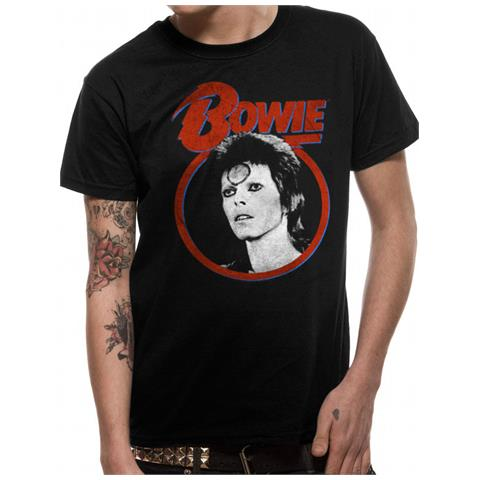 CID David Bowie - Ziggy Face (T-Shirt Unisex Tg. 2Xl)