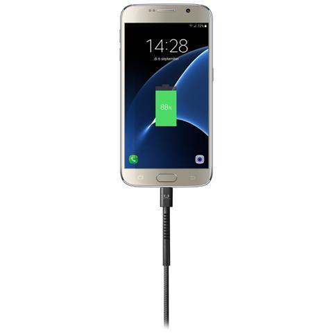 FRESH N REBEL Cavo Micro-USB Fabriq Lunghezza 3 metri - Grigio Antracite