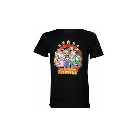BIOWORLD Nintendo - Black The Original Family (T-Shirt Unisex Tg. S)