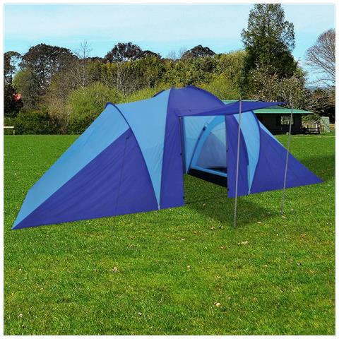 Tenda Da Campeggio Per 6 Persone Blu Marino / Azzurro