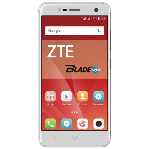 "ZTE Blade V8 Mini Argento 16 GB 4G/LTE Dual Sim Display 5"" HD Slot Micro SD Fotocamera 13 Mpx Android Europa"