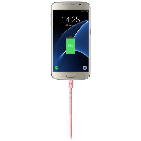 FRESH N REBEL Cavo Micro-USB Fabriq Lunghezza 3 metri - Rosa