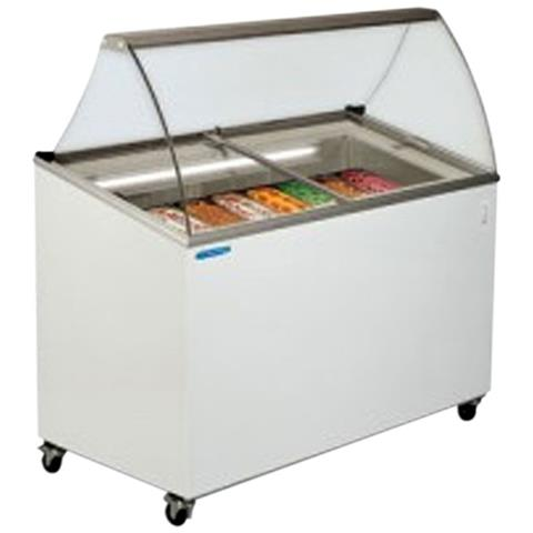 Image of Vetrina Banco Frigo gelato 5 vaschette - Temp. -12