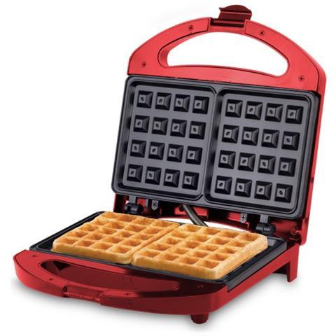 Piastra Per Waffle Potenza 700 Watt Rossa Cod 90.497r