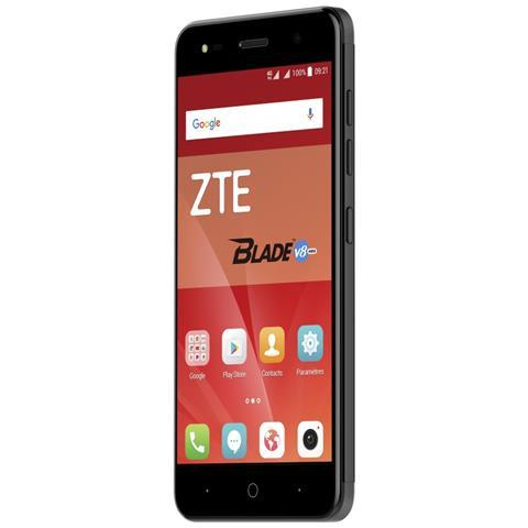 """ZTE Blade V8 Mini Nero 16 GB 4G/LTE Dual Sim Display 5"""" HD Slot Micro SD Fotocamera 13 Mpx Android Europa"""