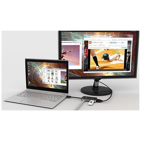 j5 create JUA370, USB3.0, USB3.0, / RJ45 / VGA, Maschio / femmina, Nero, Attività, Collegamento, 2048 x 1152 Pixel