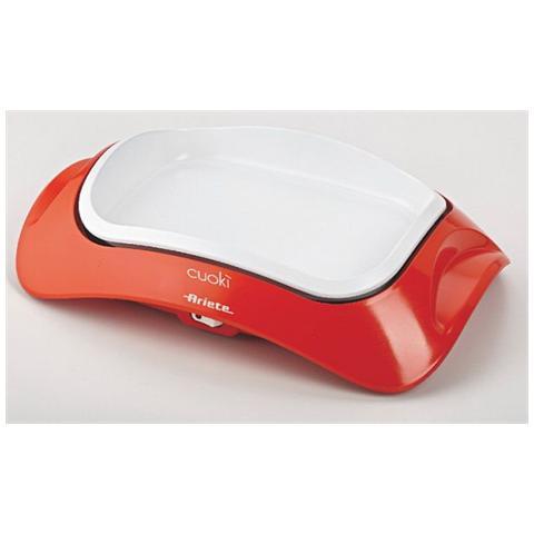 Griglia da Tavolo portatile Cuokì con Piastra in Ceramica Potenza 700 Watt Colore Arancione