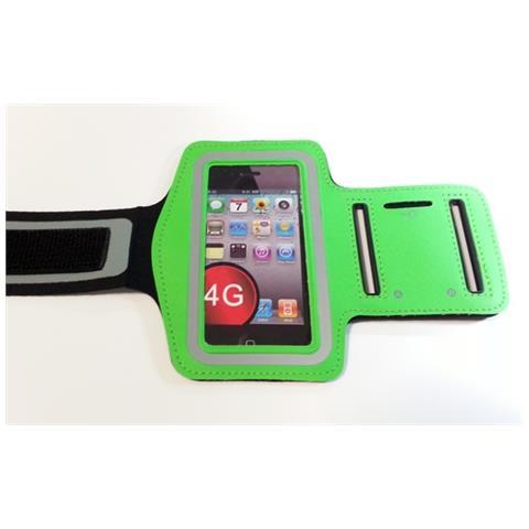 NetworkShop Custodia Fascia Da Braccio Sport Armband Verde Per Iphone 4/4s / 3g / 3gs / ipod Touch