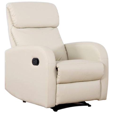 HOMEGARDEN Poltrona relax Camilla Crema con reclinazione manuale e poggiapiedi