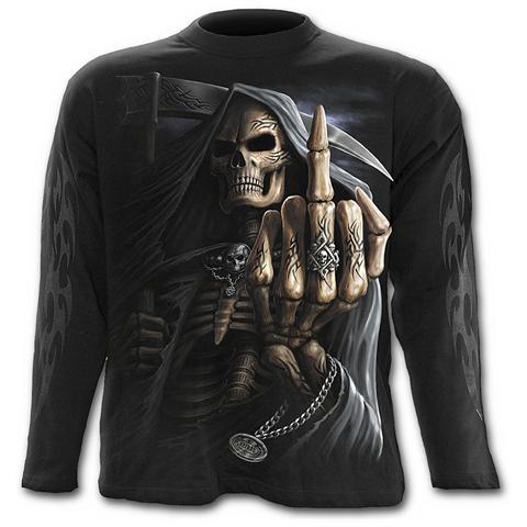 Spiral Direct Spiral - Bone Finger - Longsleeve Black (T-Shirt Manica Lunga Unisex Tg. L)