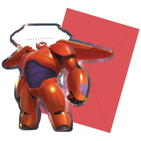 COMO GIOCHI Big Hero 6 - 6 Inviti Con Busta