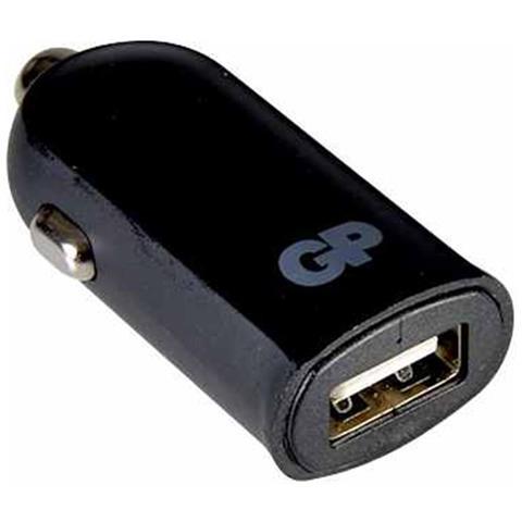 GP BATTERIES Caricabatterie da Auto Universale con Porta Singola USB 2.4A Nero