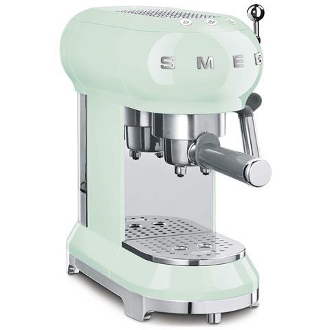 Macchina Caffé Espresso Manuale Capacità Serbatoio 1 Litro Potenza 1350 Watt Colore Verde Pastello