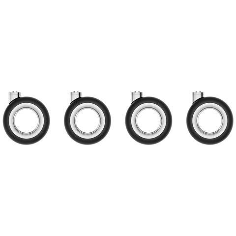 Kit di Ruote per Mac Pro Colore Nero e Acciaio
