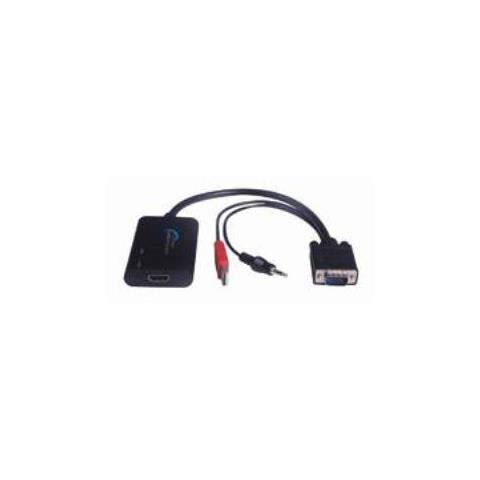 Microconnect VGA to HDMI Converter, VGA, HDMI, Maschio / femmina, Nero, Audio (3.5mm) , USB