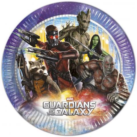 COMO GIOCHI Guardians Of The Galaxy - 8 Piatti 23 Cm