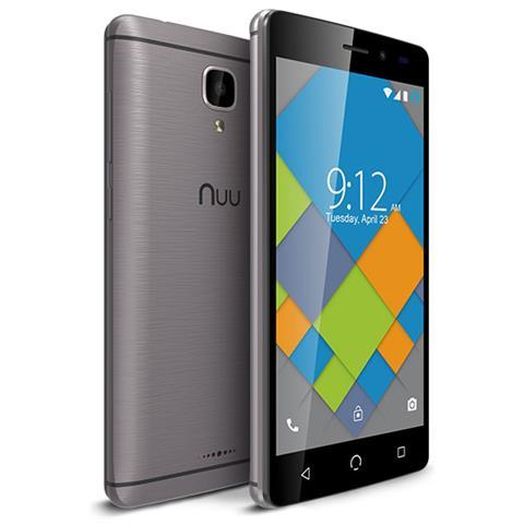 """NUU MOBILE A4L Grigio 8 GB 4G / LTE Dual Sim Display 5"""" Slot Micro SD Fotocamera 5 Mpx Android Italia"""