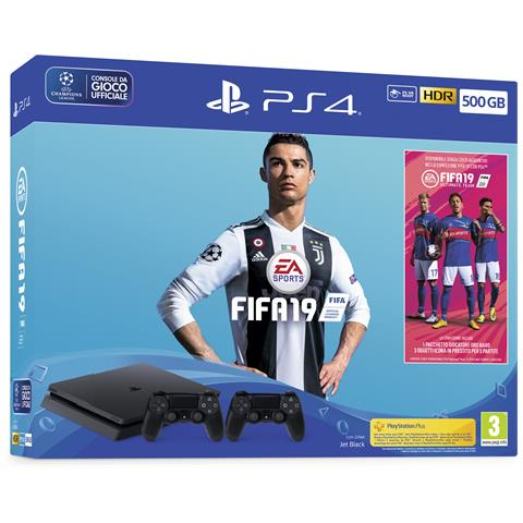 Image of Console Playstation 4 500 GB Slim + FIFA 19 + Secondo Controller DS4