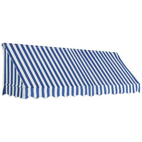 Tenda Da Sole Per Bistrò 300x120 Cm Blu E Bianca