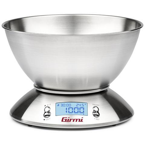 GIRMI Bilancia Digitale Multifunzione 5kg / 1g Con Ciotola Inox