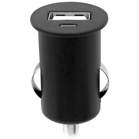 FONTASTIC IUSB2-CAR3-1A1P - Caricatore Compatto da Auto 1p USB con uscita 1A Nero