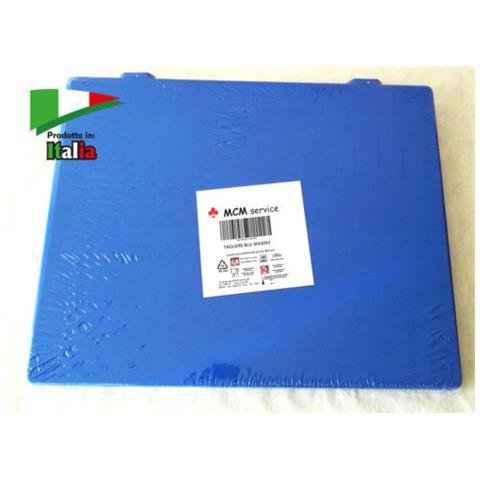 Taglieri In Polietilene Blu 40x30x2 Con Fermi