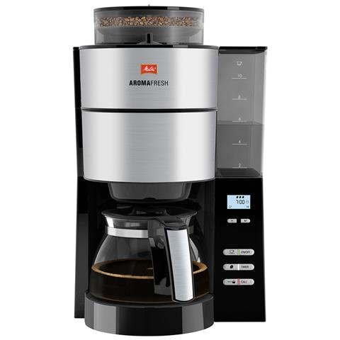 Coffee Grinder + programmabile Caffè Nero Aromafresh 1000w in acciaio inox 10 tazze da 1021 a 1001