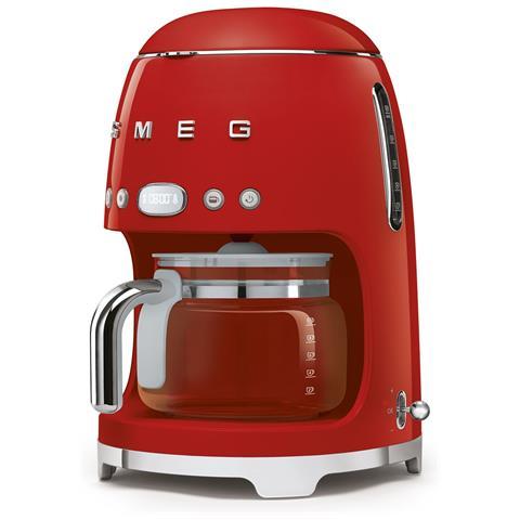 Macchina Caffè Americano DCF02RDEU 10 Tazze Linea Anni '50 Potenza 1050 Watt Colore Rosso