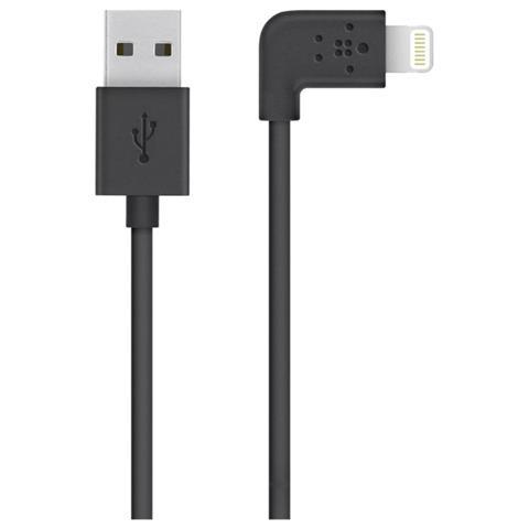 Belkin Cavo da Lightning a USB con connettore a 90° - Nero