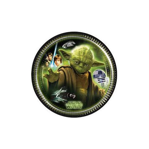 COMO GIOCHI Star Wars - Heroes And Villans - 8 Piatti 23 Cm