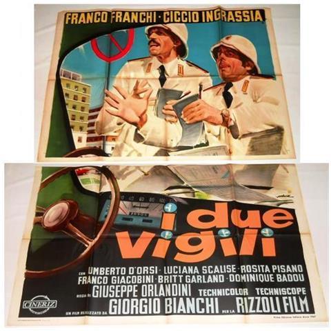 Vendilosubito Manifesto A 2 Fogli Originale Del Film I Due Vigili 1967