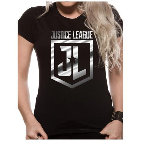 CID Justice League Movie - Foil Logo (T-Shirt Unisex Tg. M)